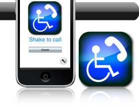 A Special Phone - an iPhone app for those people with special dialing and visual needs